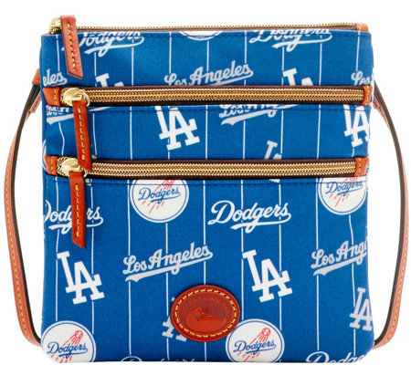 Dooney & Bourke MLB Nylon Dodgers Triple Zip Crossbody