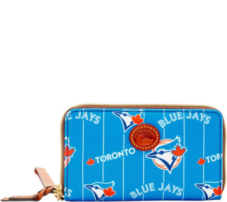 Dooney & Bourke MLB Nylon Blue Jays Zip Around Phone Wristlet