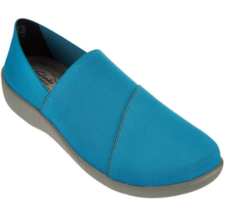"""As Is"" Clarks Cloud Stepper Stretch Slip-on Shoes - Sillian Firn"