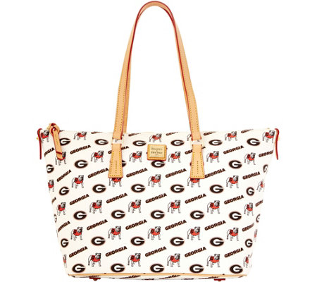 Dooney & Bourke NCAA University of Georgia Zip Top Shopper
