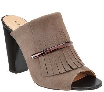 """As Is"" G.I.L.I Kilted Leather Mules - Pressley - A283532"