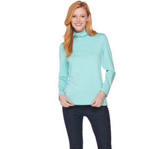 Susan Graver Modern Essential Cotton Modal Turtleneck - A285032