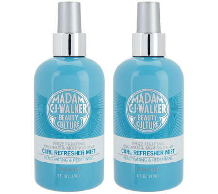 Madam C.J. Walker Set of Two Coconut & Moringa Oil Refresher Mists