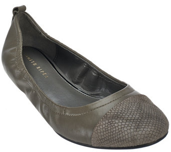 """As Is"" Judith Ripka Leather Slip-on Flats - Alberta - A289132"