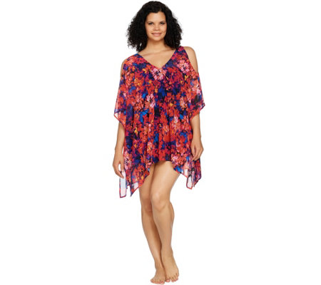 Contour by Beach Scene Cold Shoulder Swim Cover Up
