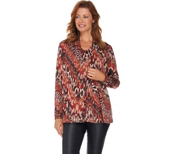 """As Is"" Susan Graver Printed Knit Cardigan and Tank Set - A292732"