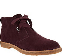 Isaac Mizrahi Live! Suede Chukka Boots with Grosgrain Laces - A294432