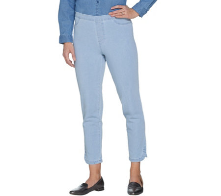 Isaac Mizrahi Live! Tall 24/7 Denim Pull-On Ankle Jeans