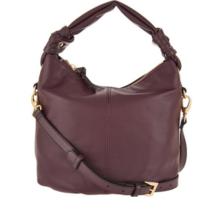 """As Is"" Tignanello Smooth Leather Convertible Crossbody"