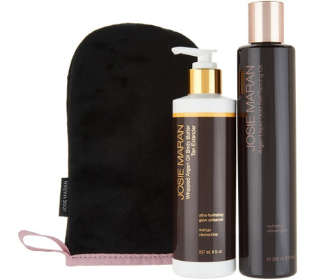 Josie Maran Super-Size Argan Tanning Oil & Extender with Mitt