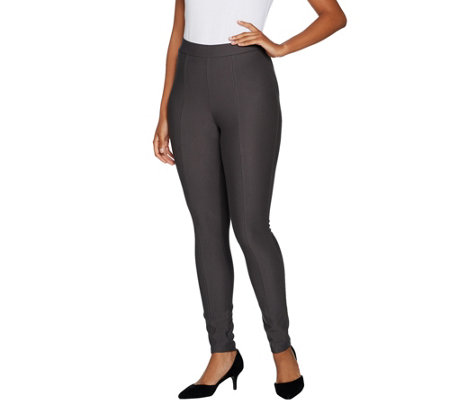 """As Is"" Lisa Rinna Collection Pull On Ponte Knit Pants"
