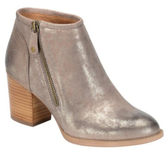 Sofft Leather Zip Ankle Boots - Wesley - A355532