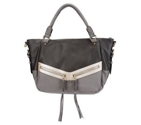 V Couture by Kooba Gillian East/West Tote w/ Zipper Pulls