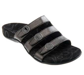 Vionic Orthotic Triple Strap Sandals - Ashley - A230733