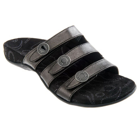 Vionic Orthotic Triple Strap Sandals - Ashley