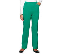 Quacker Factory Regular Pull-on French Terry Pants - A235033