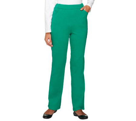 Quacker Factory Regular Pull-on French Terry Pants