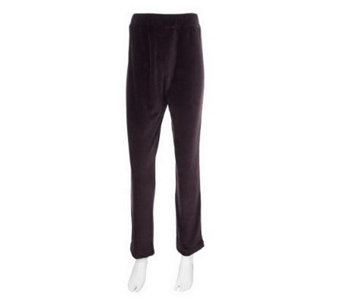 """As Is"" Susan Graver Velour Straight Leg Pull-on Pants, Regular - A240333"