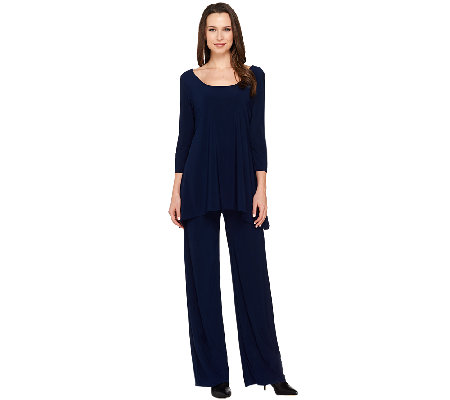 Attitudes by Renee Petite Wide Leg Knit Jumpsuit