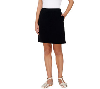Liz Claiborne New York Solid or Dot Print Pull-On Skort - A264133