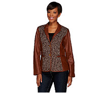 Liz Claiborne New York Heritage Collection Leather Jacket - A268833