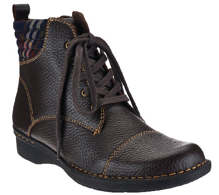 Clarks Leather Ankle Boots with Flannel Detail - Whistle Bea