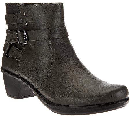 Easy Street Ankle Boots with Side Zip - Carson