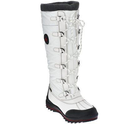 Cougar Waterproof Lace-up Tall Shaft Snow Boots