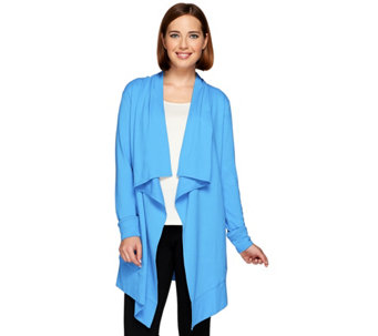 Denim & Co. Active French Terry Cascade Cardigan with Pockets - A272233