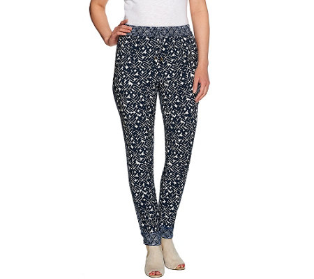 C. Wonder Pull-on Mixed Print Woven Pants with Drawstring