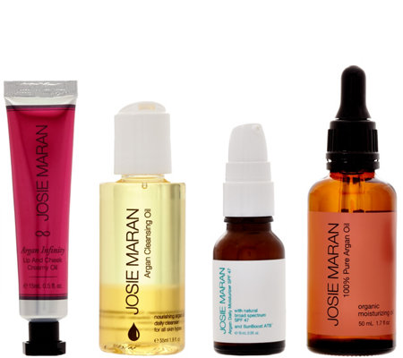Josie Maran Argan Oil 4-pc Cleanse & Protect Collection