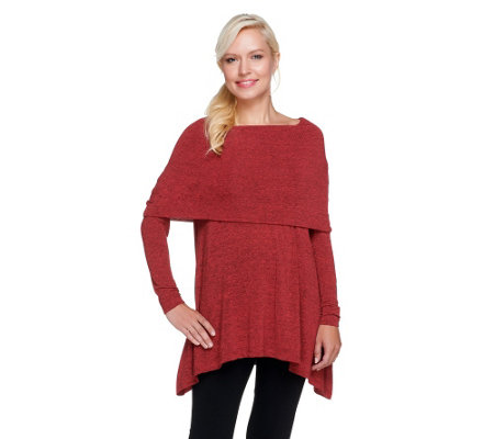 """As Is"" Lisa Rinna Collection Knit Tunic with Foldover Neck"