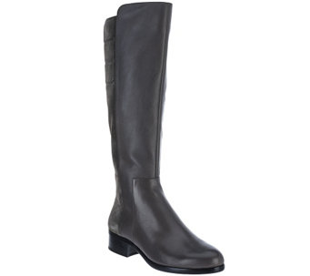 """As Is"" H by Halston Leather & Suede Tall Shaft Boots-Michelle - A278033"
