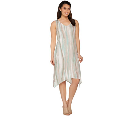 Lisa Rinna Collection Sharkbite Hem Knit Tank Dress