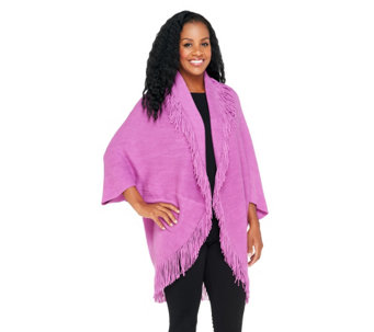 Layers by Lizden Marvelush Shrug with Cable Detail - A278533