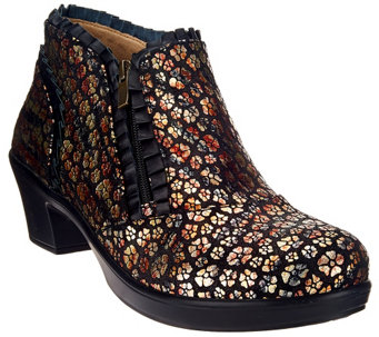 """As Is"" Alegria Leather Booties with Side Zipper - Hannah - A280633"