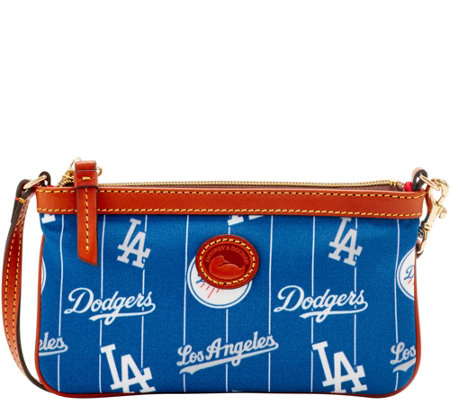 Dooney & Bourke MLB Nylon Dodgers Large Slim Wristlet