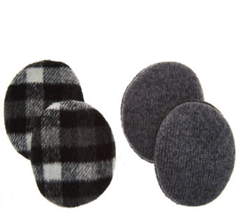 Set of 2 Plaid and Sweaterknit Earbags by Sprigs - A282633