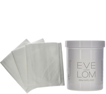 Eve Lom Super-Size Cleansing Treatment with 3 Muslin Cloths