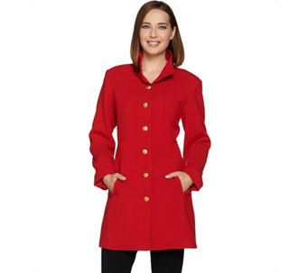 Linea by Louis Dell'Olio Coat with Hammered Buttons - A284133