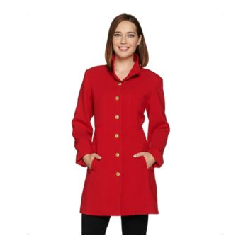 Linea by Louis Dell'Olio Coat with Hammered Buttons