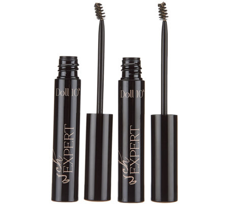 Doll 10 Arch Expert Sculpting Brow Gel Duo w/ Fibers