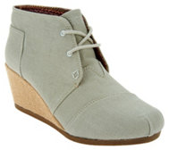 Skechers BOBS Linen Wedge Ankle Boot - High Notes Melodies