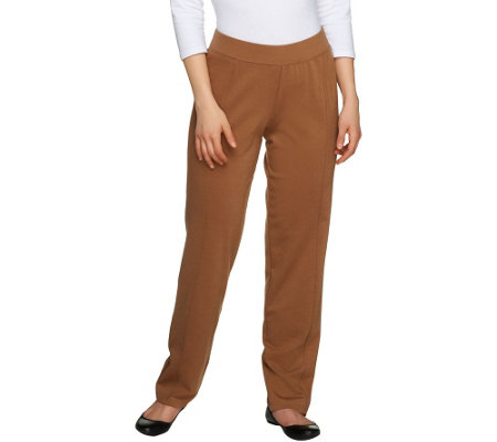"""As Is"" George Simonton Regular Pull-on Ponte Knit Pants"