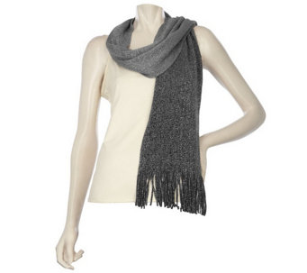 """As Is"" Layers by Lizden Metallic Ombre Scarf - A291333"