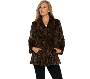 """As Is"" Dennis Basso Sterling Collection Faux Fur Coat - A293433"