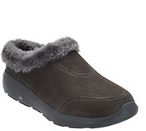 Skechers GOwalk Suede Faux Fur Clogs - Brilliant - A296033
