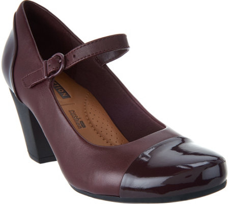 Clarks Leather Adjustable Mary Janes - Garnit Tianna