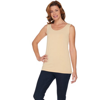 """As Is"" Joan Rivers Wardrobe Builders (R) Jersey Knit Long Tank"
