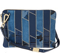 G.I.L.I. Leather Patchwork Crossbody Pouch Handbag - A299333